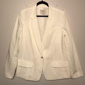 LOFT Ivory Blazer Fully Lined Size Medium